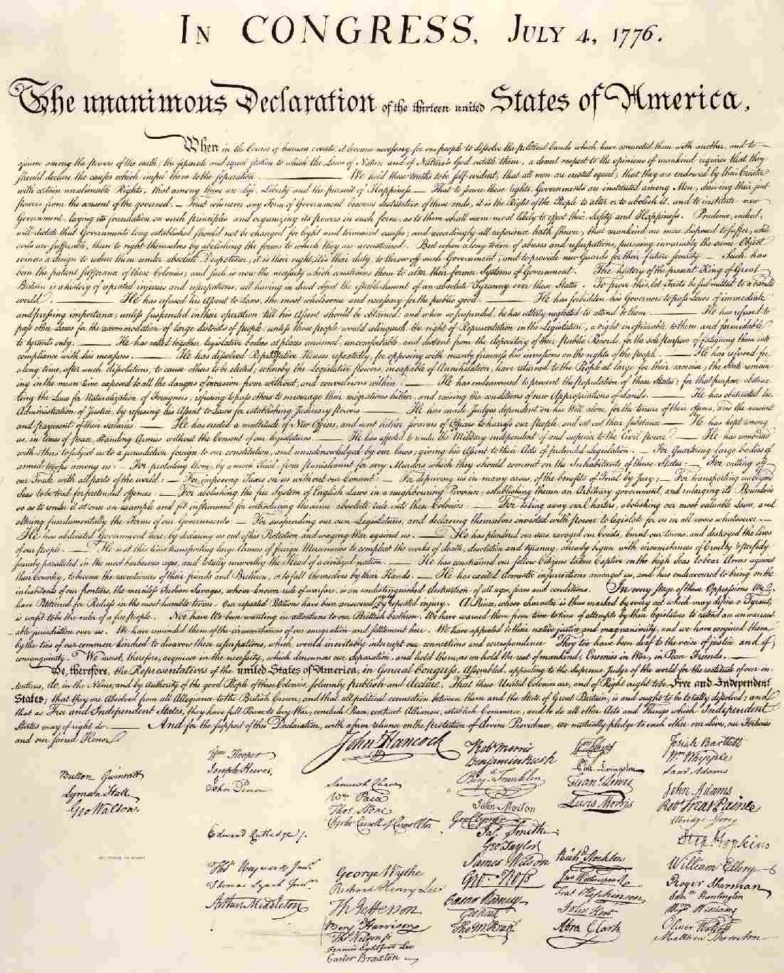 a description of the many abstractions in the declaration of independence A popular essay outlines the fates of the signers of the declaration of independence, but many of and the national park service's description of it notes.